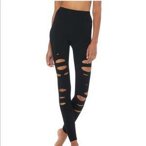 Alo yoga high waisted ripped warrior leggings